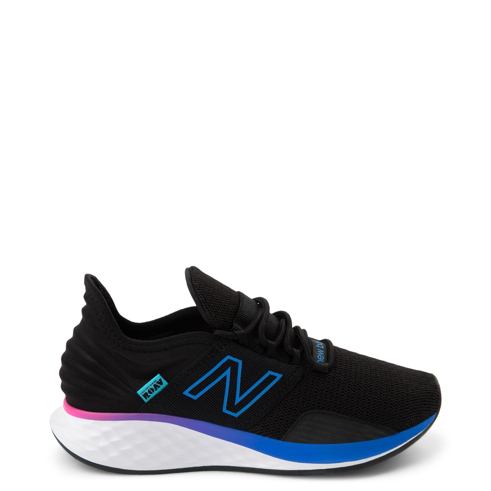 Womens New Balance Fresh Foam Roav Athletic Shoe - Black / Blue / Pink