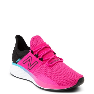 Alternate view of Womens New Balance Fresh Foam Roav Athletic Shoe - Pink / Black