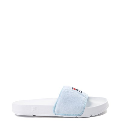 Main view of Womens Fila Terry Slide Sandal - Light Blue / White
