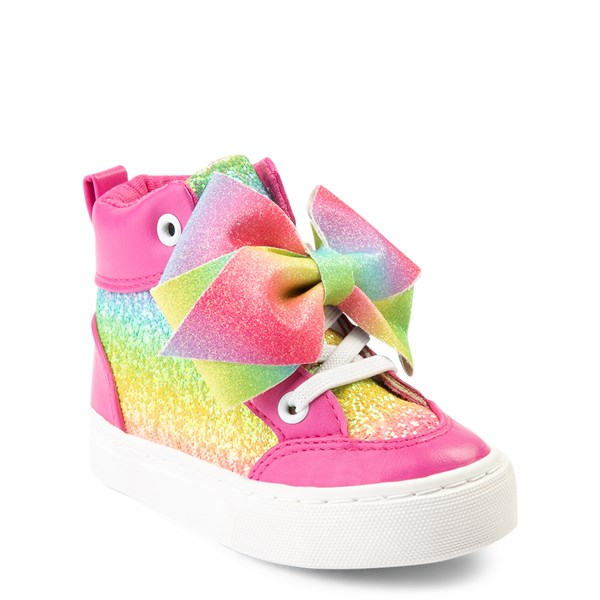 alternate view JoJo Siwa™ Glitter Bow Hi Sneaker - ToddlerALT1