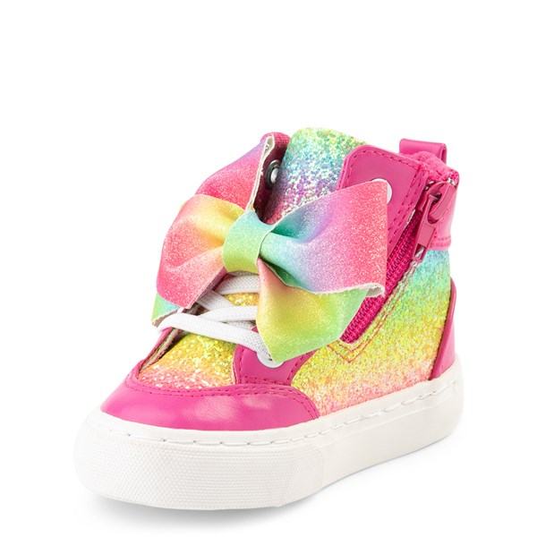 alternate view JoJo Siwa™ Glitter Bow Hi Sneaker - ToddlerALT3