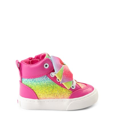 Main view of JoJo Siwa™ Glitter Bow Hi Sneaker - Toddler