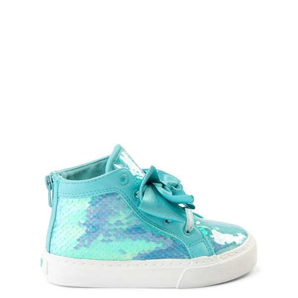 Main view of JoJo Siwa™ Sequin Bow Hi Sneaker - Toddler - Teal