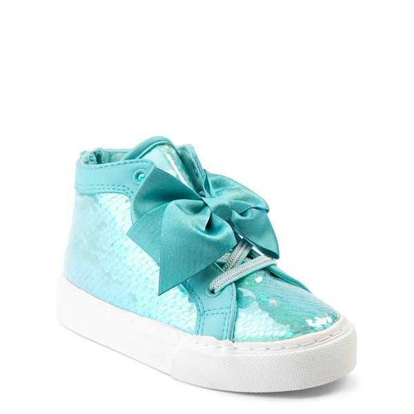alternate view JoJo Siwa™ Sequin Bow Hi Sneaker - Toddler - TealALT1