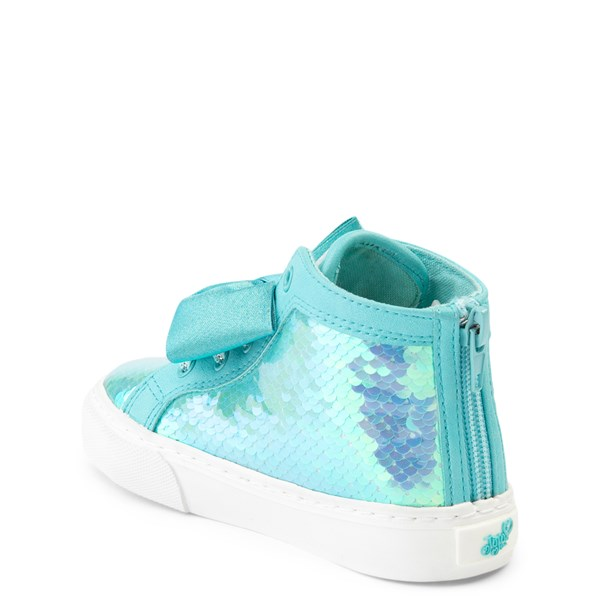 alternate view JoJo Siwa™ Sequin Bow Hi Sneaker - Toddler - TealALT2