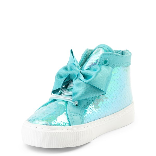 alternate view JoJo Siwa™ Sequin Bow Hi Sneaker - Toddler - TealALT3