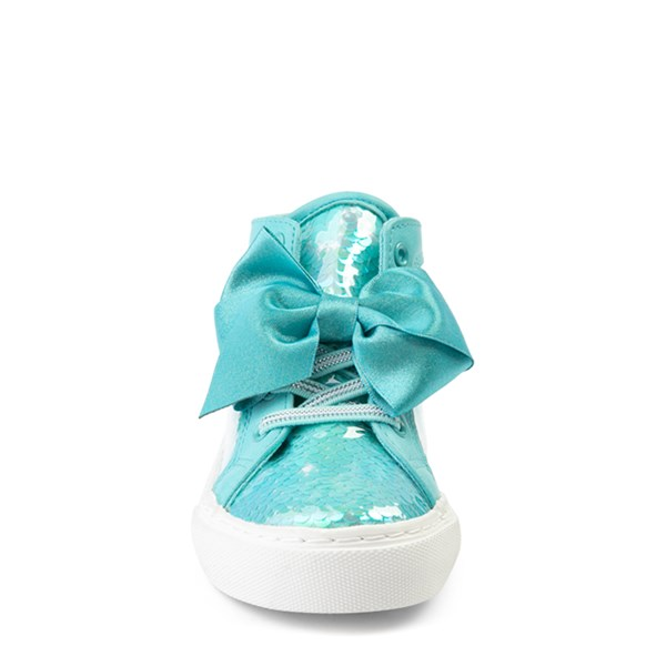 alternate view JoJo Siwa™ Sequin Bow Hi Sneaker - Toddler - TealALT4