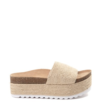 Womens Dirty Laundry Palm Desert Platform Slide Sandal