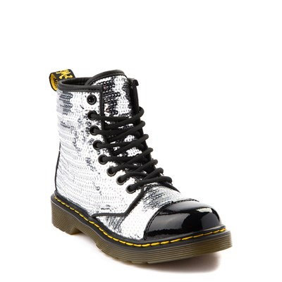 Alternate view of Girls Youth Dr. Martens 1460 Pooch 8-Eye Sequin Boot