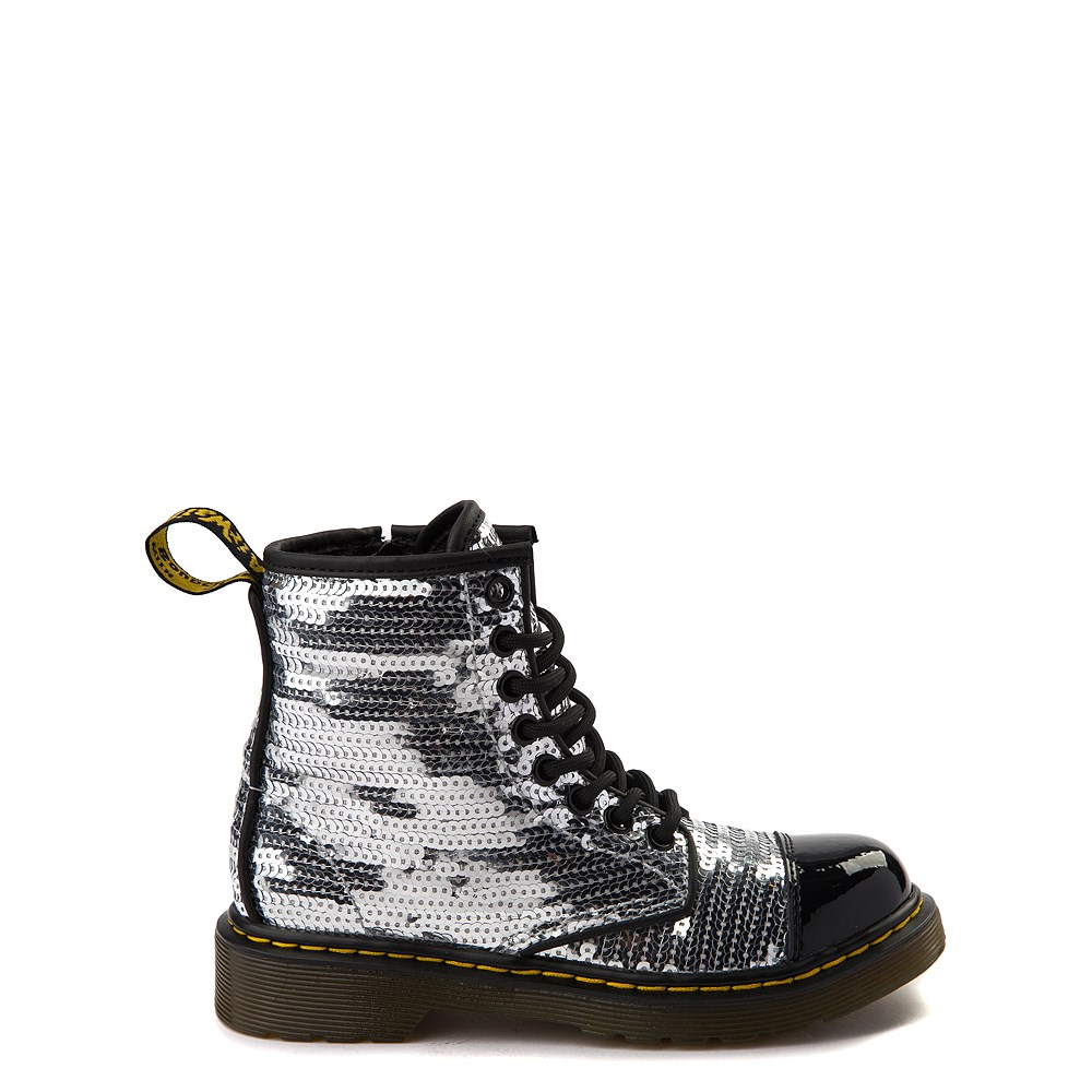 Girls Youth Dr. Martens 1460 Pooch 8-Eye Sequin Boot