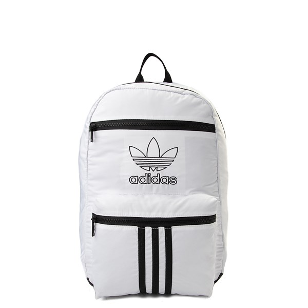 adidas National 3-Stripes Backpack - White / Black