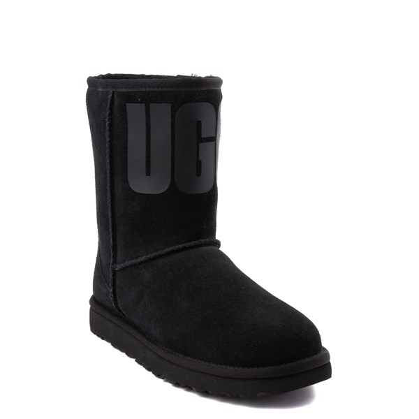 Alternate view of Womens UGG® Classic Short Logo Boot - Black