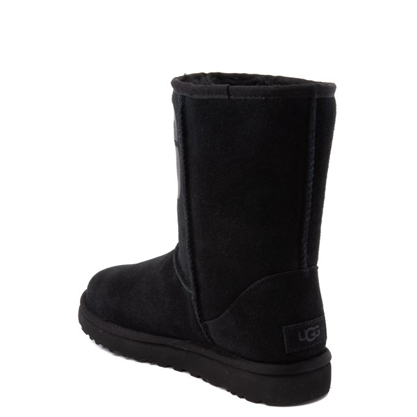 alternate view Womens UGG® Classic Short Logo Boot - BlackALT2