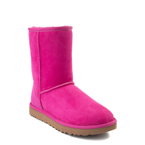alternate view Womens UGG® Classic Short II Boot - FuchsiaALT1