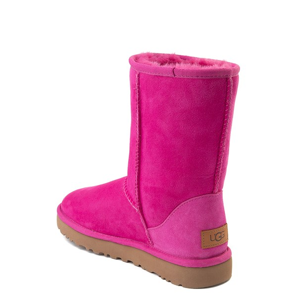 alternate view Womens UGG® Classic Short II Boot - FuchsiaALT2