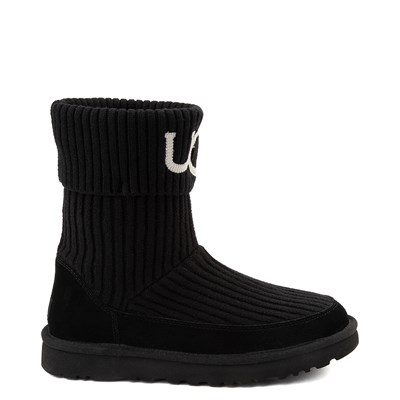 Main view of Womens UGG® Classic Knit Boot - Black