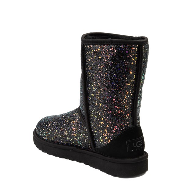 alternate view Womens UGG® Classic Short II Cosmos Boot - BlackALT2