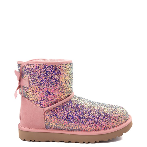 Womens UGG® Mini Bailey Bow II Cosmos Boot - Quartz Pink