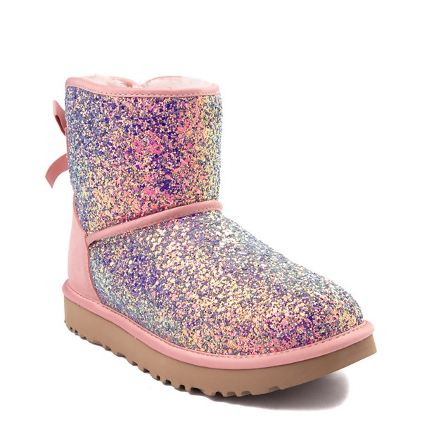 alternate view Womens UGG® Mini Bailey Bow II Cosmos Boot - Quartz PinkALT1