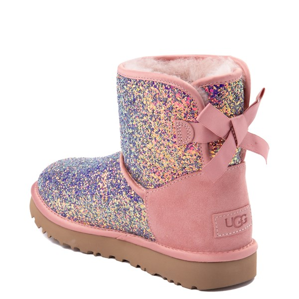 alternate view Womens UGG® Mini Bailey Bow II Cosmos Boot - Quartz PinkALT2