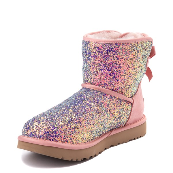 alternate view Womens UGG® Mini Bailey Bow II Cosmos Boot - Quartz PinkALT3