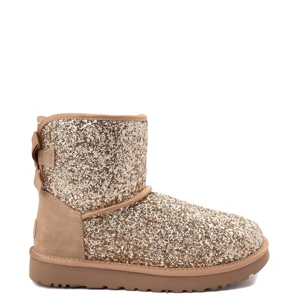 Womens UGG® Mini Bailey Bow II Cosmos Boot - Gold