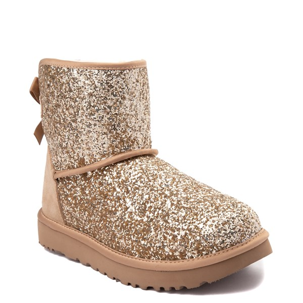alternate view Womens UGG® Mini Bailey Bow II Cosmos Boot - GoldALT1