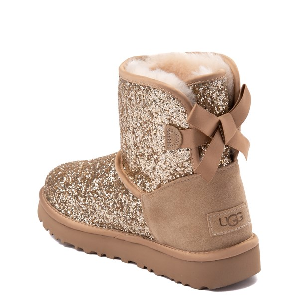 alternate view Womens UGG® Mini Bailey Bow II Cosmos Boot - GoldALT2