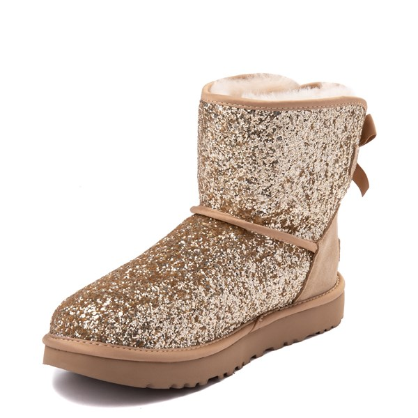 alternate view Womens UGG® Mini Bailey Bow II Cosmos Boot - GoldALT3