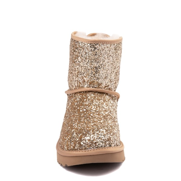 alternate view Womens UGG® Mini Bailey Bow II Cosmos Boot - GoldALT4