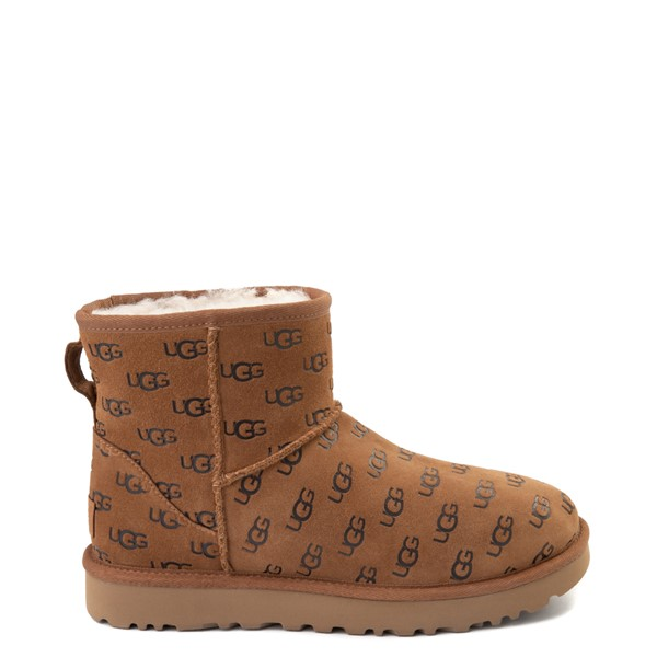 Womens UGG® Classic Mini II Embossed Boot - Chestnut