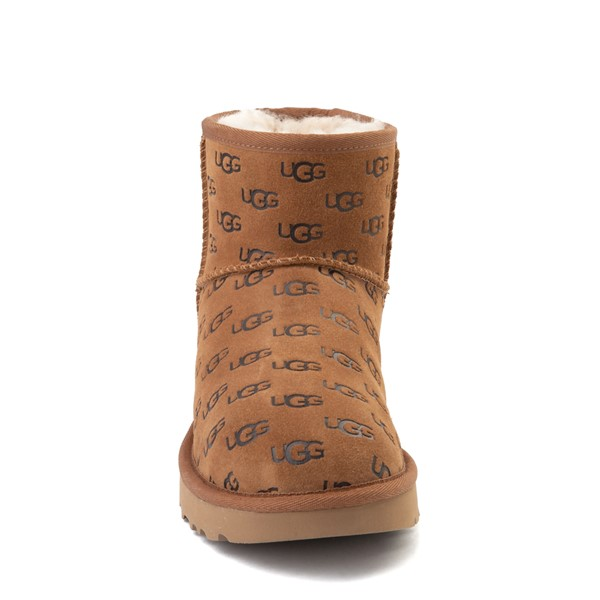 alternate view Womens UGG® Classic Mini II Embossed Boot - ChestnutALT4