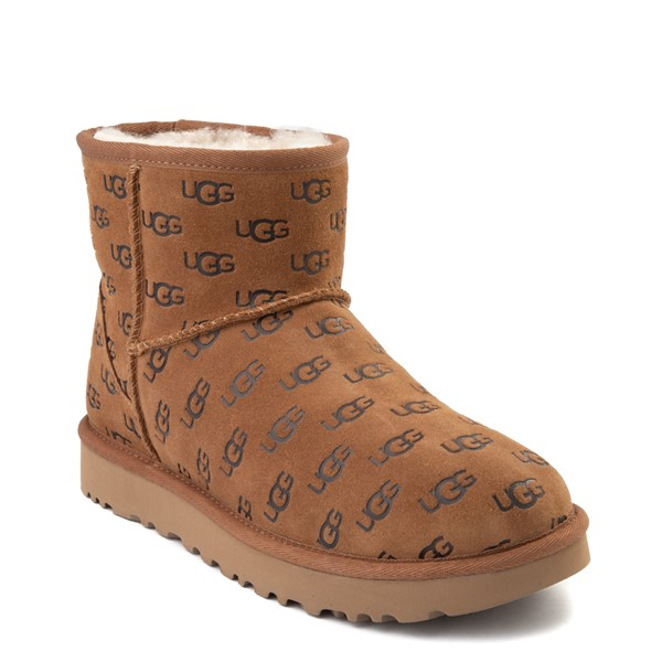 alternate view Womens UGG® Classic Mini II Embossed Boot - ChestnutALT5