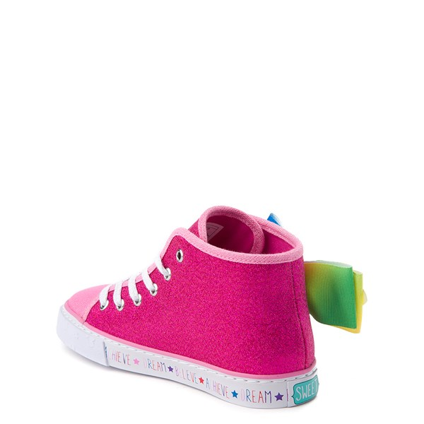alternate view JoJo Siwa™ Glitter Bow Hi Sneaker - Little Kid / Big KidALT3