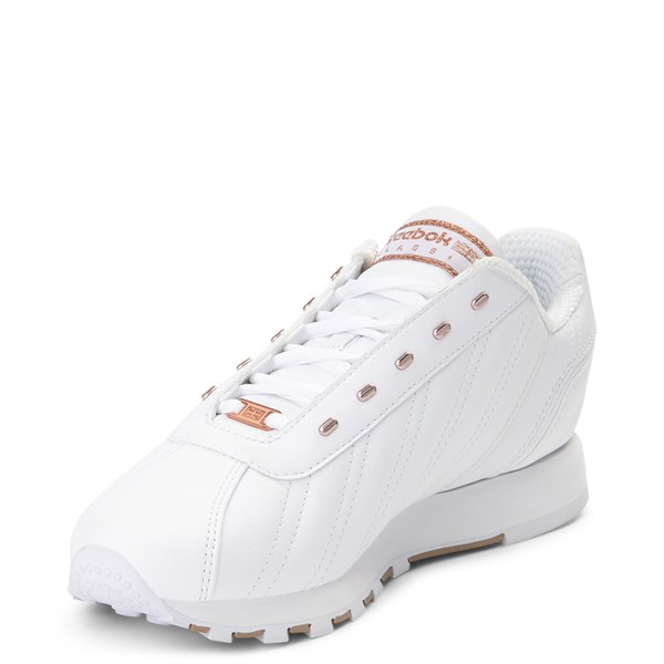 alternate view Womens Reebok Oryx Athletic Shoe - White / Rose GoldALT3