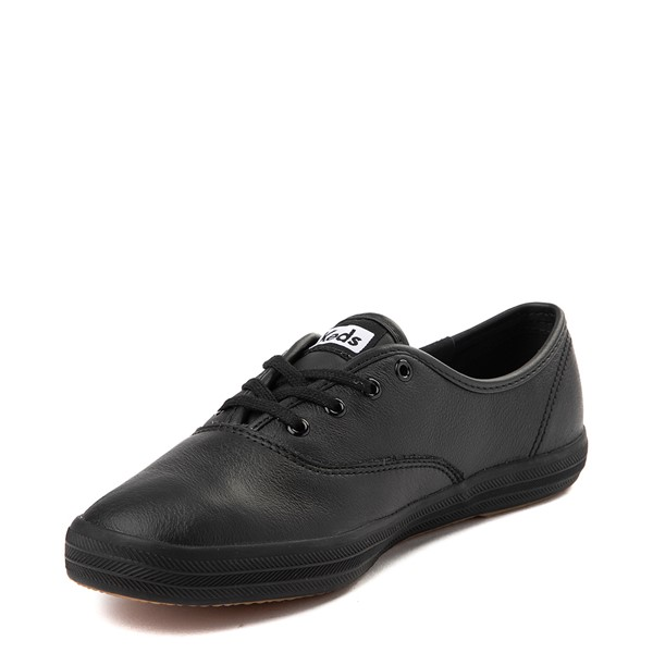 alternate view Womens Keds Champion Original Leather Casual Shoe - BlackALT2