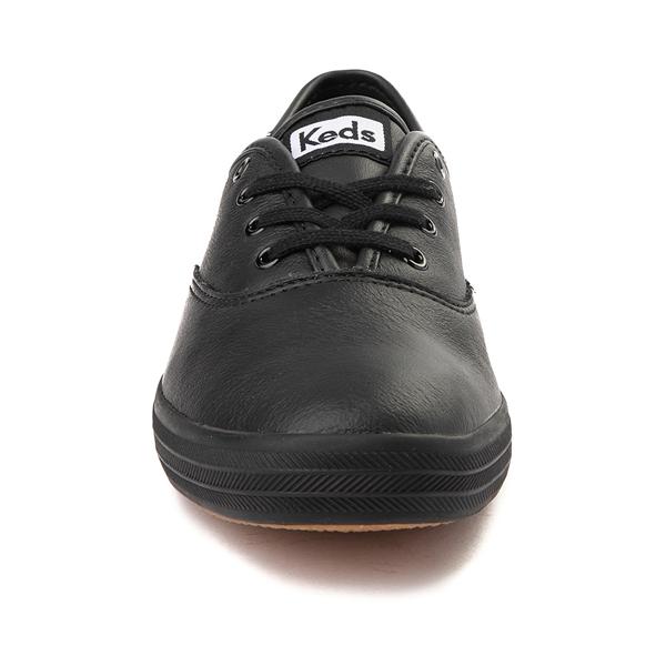 alternate view Womens Keds Champion Original Leather Casual Shoe - BlackALT4