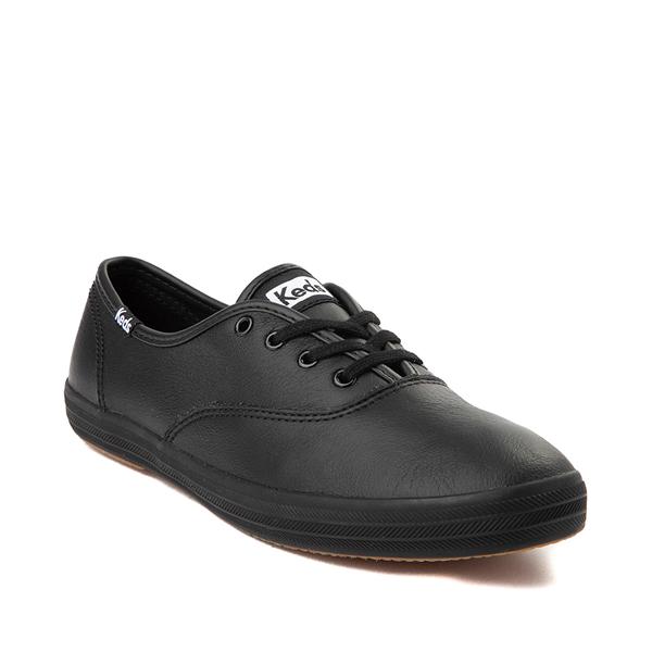 alternate view Womens Keds Champion Original Leather Casual Shoe - BlackALT5