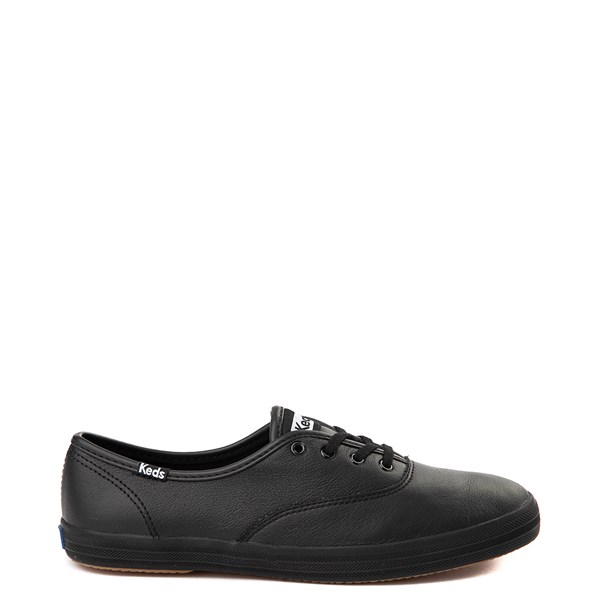 Womens Keds Champion Original Leather Casual Shoe - Black