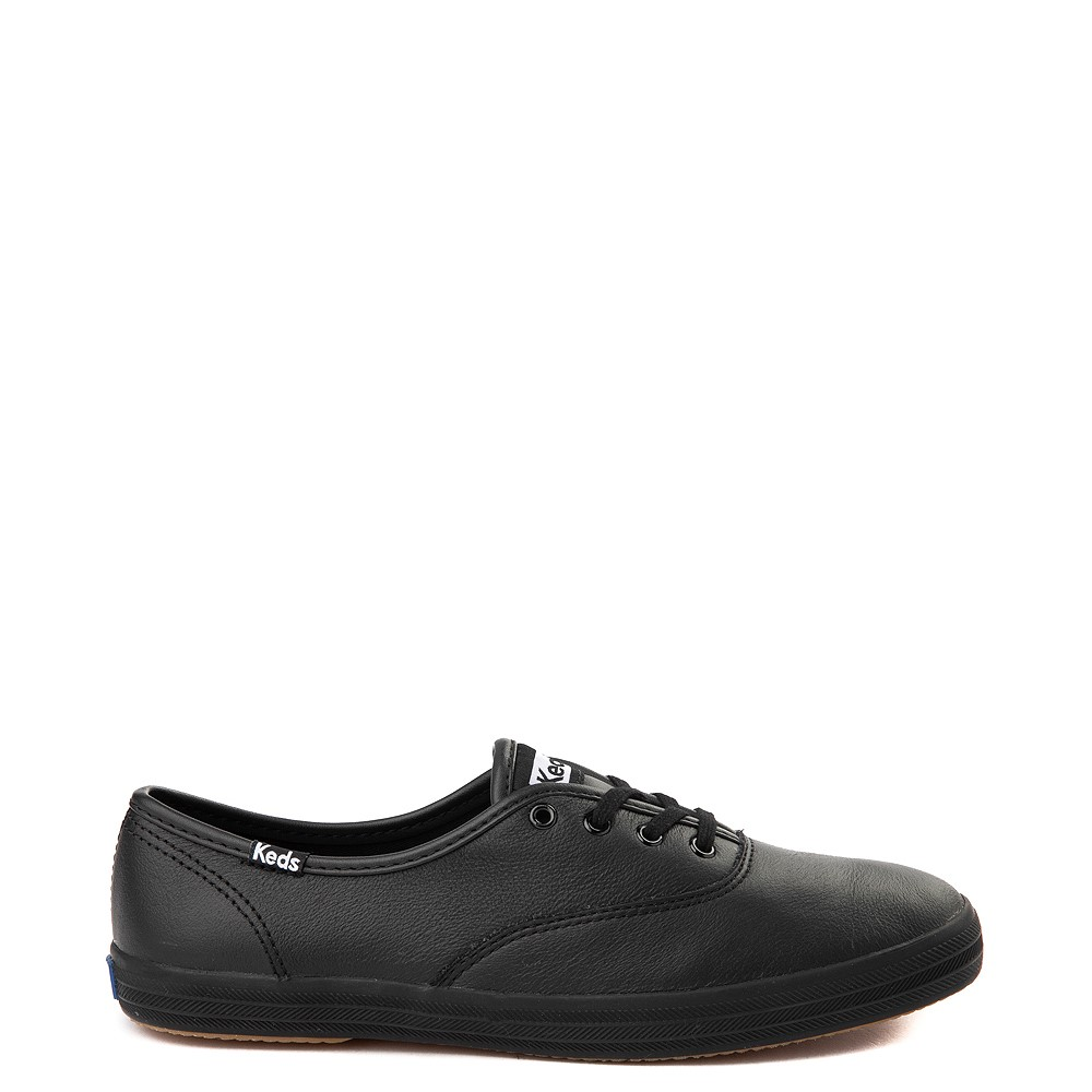 Womens Keds Champion Original Leather Casual Shoe - Black