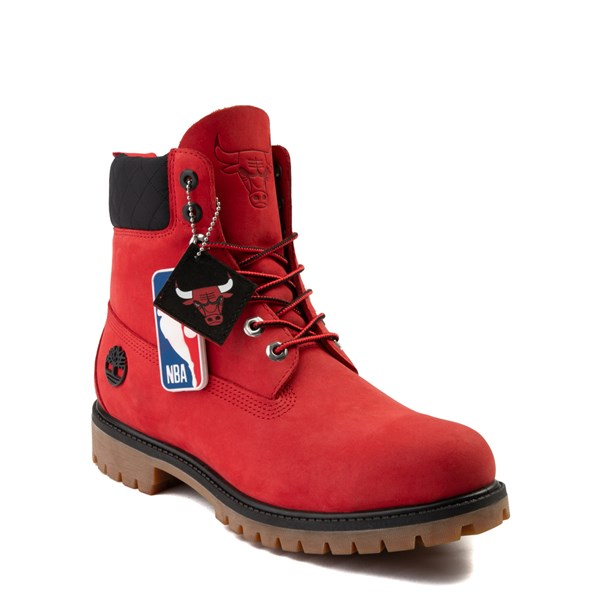 "Alternate view of Mens Timberland x NBA Chicago Bulls 6"" Boot - Red"