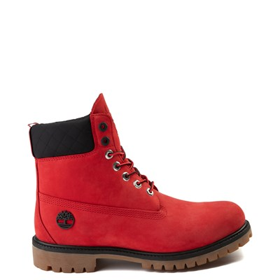"Main view of Mens Timberland x NBA Chicago Bulls 6"" Boot - Red"