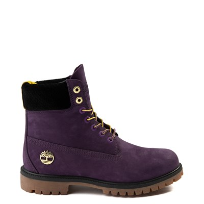"Main view of Mens Timberland x NBA Los Angeles Lakers 6"" Boot - Dark Purple"