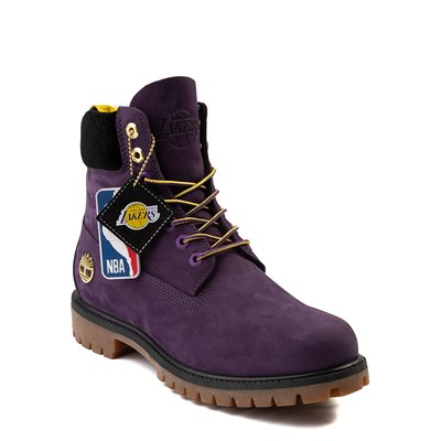 "Alternate view of Mens Timberland x NBA Los Angeles Lakers 6"" Boot - Dark Purple"