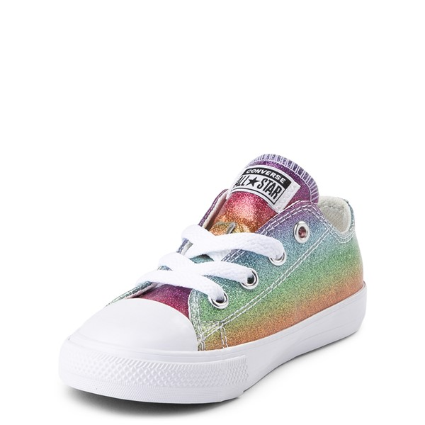 alternate view Converse Chuck Taylor All Star Lo Glitter Sneaker - Baby / Toddler - MultiALT2