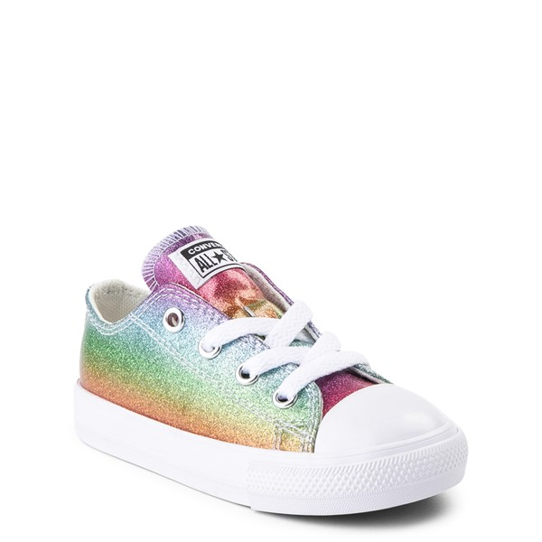 alternate view Converse Chuck Taylor All Star Lo Glitter Sneaker - Baby / Toddler - MultiALT5
