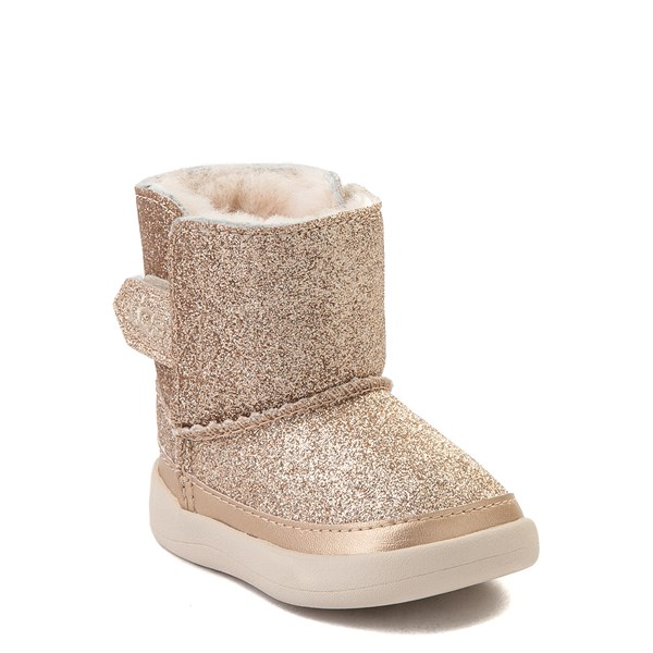 alternate view UGG® Keelan Glitter Boot - Baby / Toddler - GoldALT1