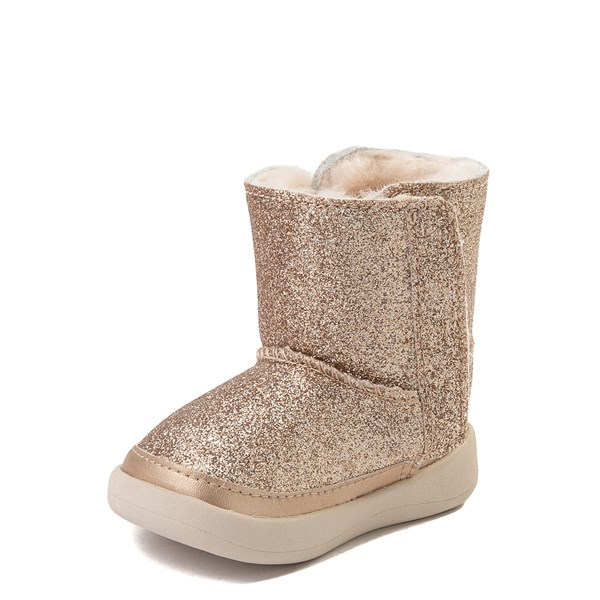 alternate view UGG® Keelan Glitter Boot - Baby / Toddler - GoldALT3