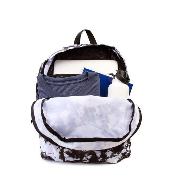 alternate view Vans Realm Cloud Wash Backpack - Black / WhiteALT1