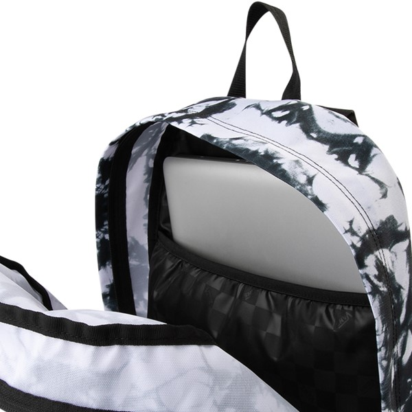 alternate view Vans Realm Cloud Wash Backpack - Black / WhiteALT3